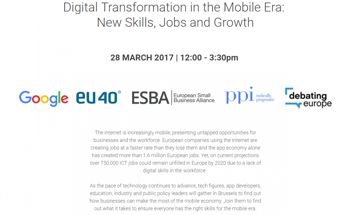 digital transformation in the mobile era new skills jobs and event description