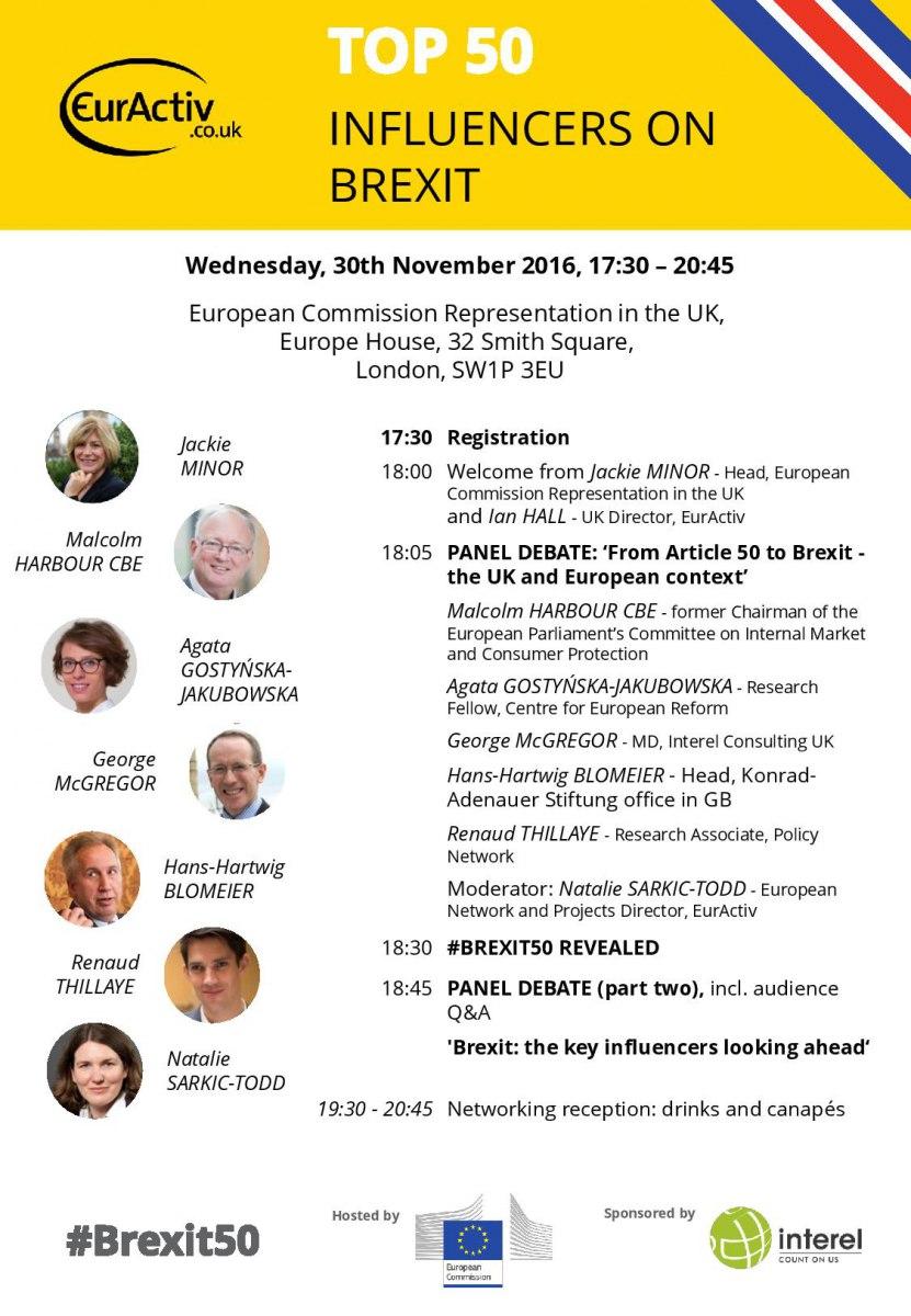 EurActiv Events – Event Agenda
