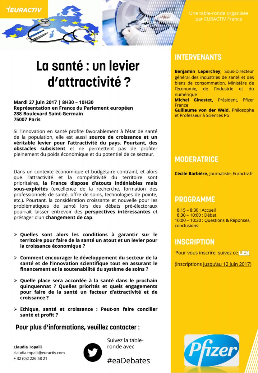 La santé : un levier d'attractivité ? | EURACTIV's Agenda